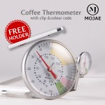 Authentic MOJAE Coffee Thermometer Pen Type Stainless Steel Cooking Temperature Hanging Thermometer With Clip Coffee Maker Tool