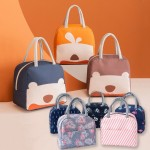 Z PLUS Large Portable Cartoon Insulated Thermal Cooler Bag Canvas Lunch Bag Lunch Box Storage Bag Beg Makan 保温便当包饭盒袋
