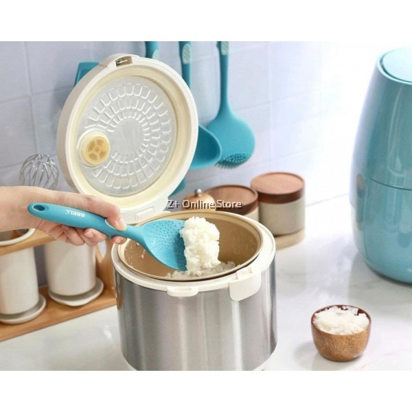 [Switzerland] BBELL Set of 5 Pcs Silicone Kitchen Cooking Utensils Set (Blue) Cooking Tools 硅胶厨具套装