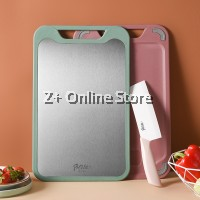 Z PLUS Ultra Slim Dual Side Chopping Board Stainless Steel PP Light Weight Double Sided Cutting Board
