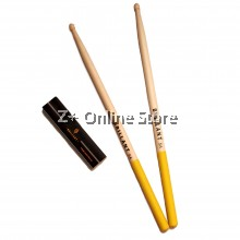 Z PLUS Brillant Anti Slip Maple Wood drum stick drumstick (1 pair) [Yellow]