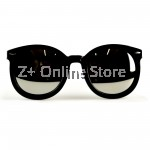 Korean Retro Sunglasses with Reflective Colour Film (Black Silver)