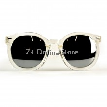 Korean Retro Sunglasses with Reflective Colour Film (Transparent)