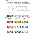 Z PLUS Korean Retro Sunglasses with Reflective Colour Film (Black Ash) [free glasses clothes and bags]