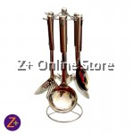 Z PLUS Multi Purpose Stainless Steel Kitchenware Cooking Utensil Set of 7 with Support Stand