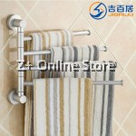 Z PLUS Rotating Space Aluminium Towel Bar Towel Rack (2 bars)