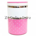 Z PLUS Mini Stainless Steel 2 Layers Lunch Box Premium Gift (930ml) Pink