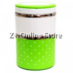 Z PLUS Mini Stainless Steel 2 Layers Lunch Box Premium Gift (930ml) Green