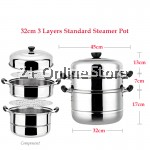 Z PLUS 3 Layers 3 Tiers Multi Function Thick Base Stainless Steel Steamer Induction Pot Steamboat