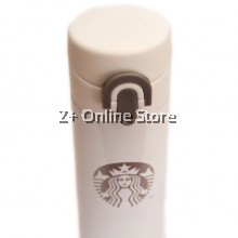 Starbucks OEM Thermos Flask 380 ml Premium Gift (White Silver)