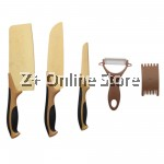Z PLUS Set of 5 Centennial Rose Stainless Steel Knife Set