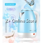 Rosone Stainless Steel Electric Kettle (2.0L) Sky Blue