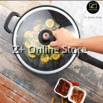 Z PLUS 32cm Non Stick Korean Maifan Stone Coating High Pressure Vacuum Wok Stand Up Lid Cover