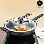 Z PLUS 32cm Non Stick Korean Maifan Stone High Pressure Vacuum Wok Stand Up Lid Cover