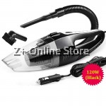 Dual Use 6 in 1 Portable Handheld Car Vacuum Cleaner 120W 5m 12V (Black)