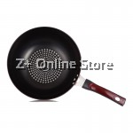 Z PLUS 32cm Olitics Non-stick Iron Frying Pan Wok with Standable Lid