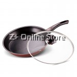 Z PLUS 26cm Jifa Non-stick Iron Frying Pan Wok with Lid