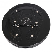 Z PLUS Fitness Body Waist Hip Twisting Magnetic Slimming Foot Massage Board (Black)