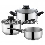 Tiluck Set of 5 Premium Grade Stainless Steel Three Layer Kitchen Cooking Pot