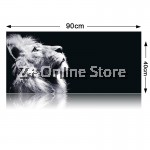 Z PLUS [90cm x 40cm] Large Gaming Thickened Desktop Table / Keyboard Mouse Pad (Lion)
