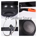 32cm OKO Korean Maifan Non stick Cooking Pot Fry Pan Wok Standable Lid Cover Handle