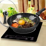 32cm Non-Stick Korean Maifan Wok Cookware Cooking Pot Fry Pan Kitchen Wok With Standable Lid Cover Handle
