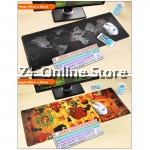 Large Gaming Thickened Desktop Table / Keyboard Mouse Pad (World Map)