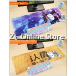 Z PLUS [80cm x30cm] Large Gaming Thickened Desktop Table / Keyboard Mouse Pad (Serious)