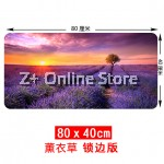 Z PLUS [80cm x40cm] Large Gaming Thickened Desktop Table / Keyboard Mouse Pad (Lavender)