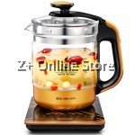 Z PLUS 1.8L JZ Automatic Multi-function Glass Health Kettle Pot (Black)