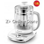 Z PLUS 1.8L JZ High Borosilicate Health Kettle Pot+304 Stainless Steel Filter (White)