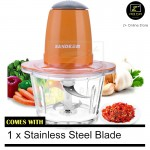 Z PLUS SD Meat Grinder Blender Glass Bowl Double Stainless Steel 304 Blade Vegetables Food Fruit Cutter
