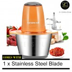 Z PLUS SD Stainless Steel 304 Meat Grinder Blender Bowl Fruits Mince Meat Vegetables Cutter (Orange)
