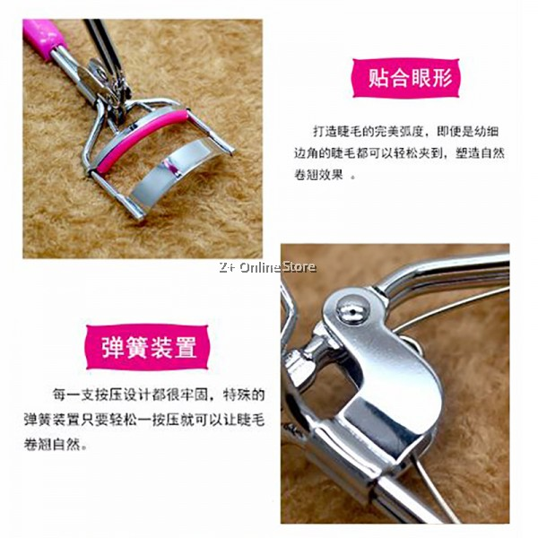 Z PLUS Stainless Steel Eyelash Curler Beauty Tools Make Up Clip Cosmetics Essential Mascara Facial Tool Eye Touch Up