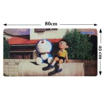 Z PLUS [80cm x40cm] Large Gaming Thickened Desktop / Keyboard Mouse Pad (Doraemon)