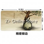 Z PLUS [80cm x40cm] Large Gaming Thickened Desktop / Keyboard Mouse Pad (Totoro)
