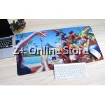 Z PLUS [90cm x40cm] Large Gaming Thickened Desktop / Keyboard Mouse Pad (Pool Party)