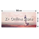Z PLUS [90cm x40cm] Large Gaming Thickened Desktop / Keyboard Mouse Pad (Light House)