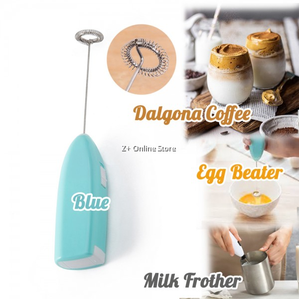 Z PLUS Mini Handheld Electric Milk Frother Whisk Egg Beater Cordless Mixer Dalgona Coffee Maker Cappuccino Foam (AA Battery)