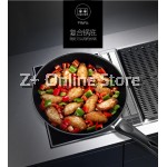 Z PLUS 26cm MJ Non Stick Cooking Pan with Lid Cover (Red Wine)
