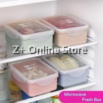 Z PLUS Eco-friendly Wheat Straw Japanese Bento Microwave Lunch Box Fresh Box