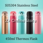 Z PLUS Korean 304 Stainless Steel Thermos Flask [450ml]