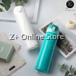 Z PLUS Korean Push Open SUS304 Stainless Steel Thermos Flask Vacuum Flask Drinking Tea Coffee Bottle