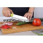 Z PLUS Combo Set of 2 Premium Grade Stainless Steel Kitchen Knife Set Tools (Green)