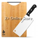 Set of 2 Bayco Stainless Steel Kitchen Knife Knives Tools + Bamboo Cutting Board