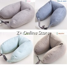 Z PLUS U Shaped Pillow Bolster Bedding Travel Soft Neck Support