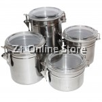 Set of 4 Canister Stainless Steel Food Containers