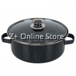 Z PLUS 24cm Korean Home Baked Sweet Potato Roast Chestnut Pot with Enamel Cover