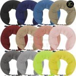 U Shape Nylon Travel Pillow Muji Inspired Microbeads Neck Support Cushion