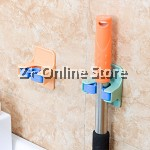 Z PLUS Strong Adhesive Bathroom Suction Wall Hanging Mop Broom Holder
